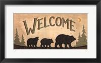 Framed Bear Welcome