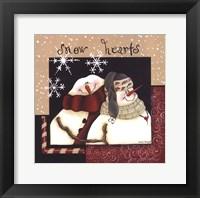 Framed Snow Hearts