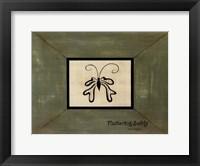 Framed Fluttering Softly
