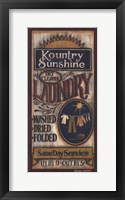 Framed Kountry Sunshine Laundry