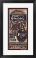 Framed Kountry Sunshine Laundry