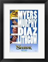 Framed Shrek - characters