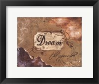 Dream the Impossible Framed Print