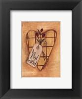 Kind Hearted Framed Print