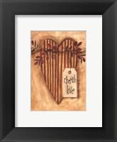 Cherish Love Framed Print