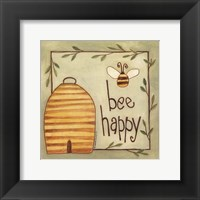 Framed Bee Happy