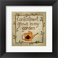Framed Contentment