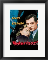 Framed Notorious Grant and Bergman Pop