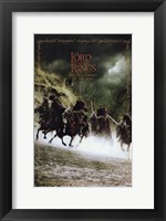 Framed Lord of the Rings: Fellowship of the Ring Battling on Horses