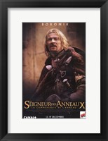 Framed Lord of the Rings: Fellowship of the Ring Boromir Poster