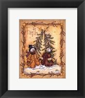 Snow Folk Faith Framed Print