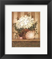 Hydrangea and Shell Framed Print