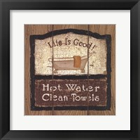 Framed Hot Water