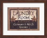 Framed Laundry Room