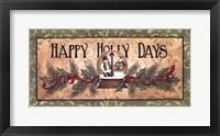 Framed Happy Holly Days