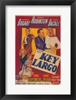 Framed Key Largo Cartoon