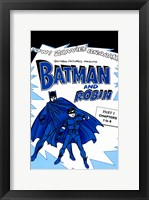 Framed Batman and Robin Blue
