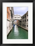 Framed View From Bridge of Sighs. S.Marco