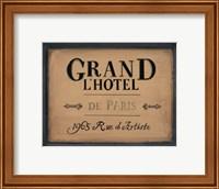 Framed Grand l'Hotel