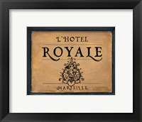 Framed L'Hotel Royale