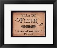 Framed Villa de Fleur