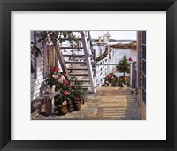 Framed Blue Stair and Begonias, 1987