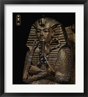 Framed Golden Effigy of King Tutankhamen