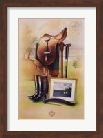 Framed Equestrian Illustration II