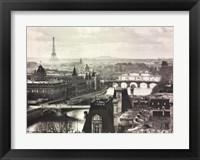 Framed River Seine and the City of Paris