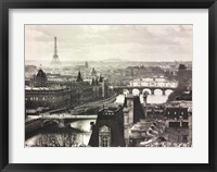 Framed River Seine and the City of Paris