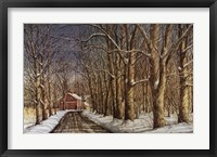 Bend in the Road Framed Print