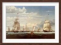 Framed Boston Harbor, 1853