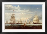 Framed Boston Harbor, 1853