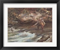 Framed Trout Stream