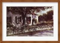 Framed Edgartown Lane
