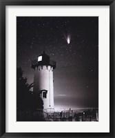Framed Comet Hale-Bopp Over East Chop