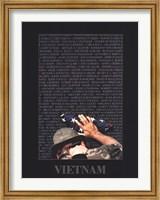 Framed Vietnam Memory Wall