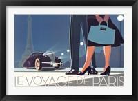 Framed Le Voyage de Paris II
