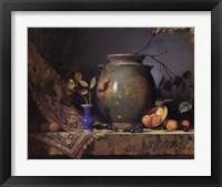 Framed Olive Jar and Apricots