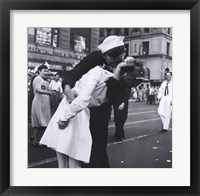 Framed Kissing the War Goodbye, VJ Day, Times Square, August 14, 1945