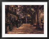 Framed La Signora del Giardino di Tuscana