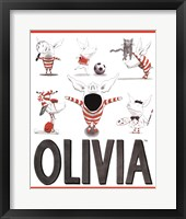 Framed Olivia - Busy Little Piggy