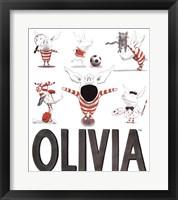 Framed Olivia - Busy Little Piggy
