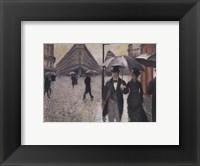 Framed Paris, a Raiiny Day, 1877