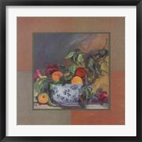 Framed Peach Still Life