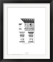 Framed Neoclassical Entablature