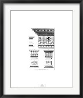 Framed Neoclassical Entablature