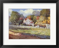 Framed Early Autumn Farm