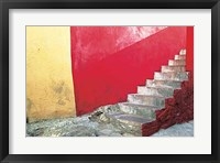 Framed Red Stairway