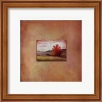 Framed Crimson Tree
